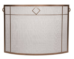 Diamond Curved Screen – Roman Bronze