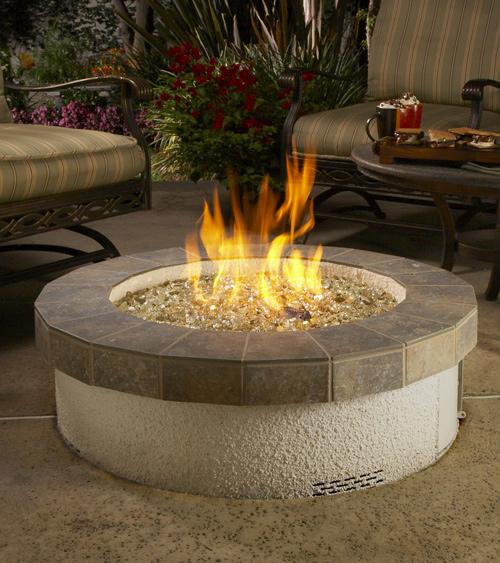 Fire pits:  Stucco Fire Pit