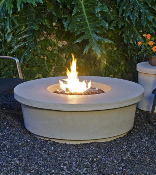 Fire table:  Contempo Round Firetable