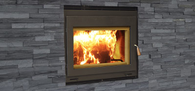 The Focus 250 fireplace